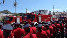 Пожарные машины в Афинах. Архивное фото