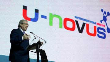 Полномочный представитель президента в СФО Виктор Толоконский на открытии форума U-NOVUS, событийное фото