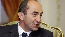 Второй президент Армении Роберт Кочарян. Архивное фото