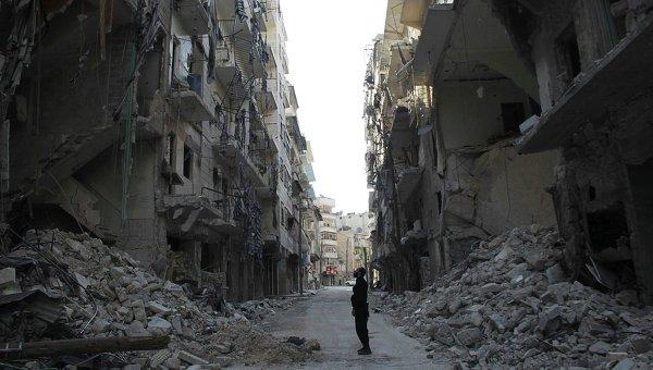 На улицах сирийского города Алеппо, 4 апреля 2014