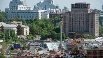 Вид на площадь Независимости в Киеве. Архивное фото.