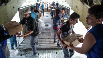 Груз гуманитарной помощи в Сирии. Архивное фото