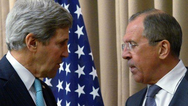 Лавров и Керри в Женеве, фото с места события