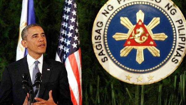 Барак Обама на пресс-конференции в Маниле
