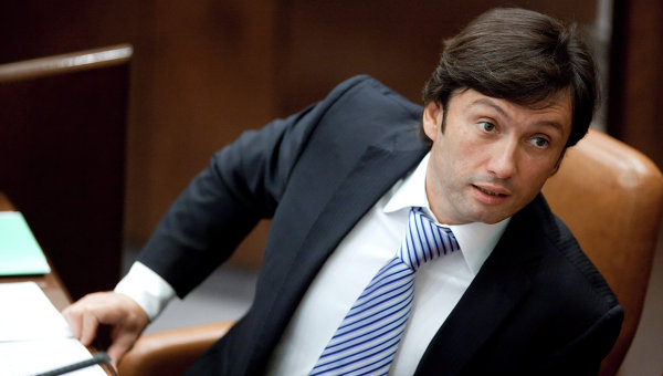 Максим Кавджарадзе во время заседания Совета Федерации Федерального Собрания РФ