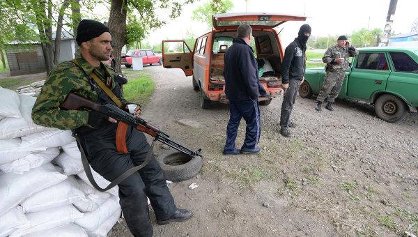 Украинские военнные начали штурм города Славянска