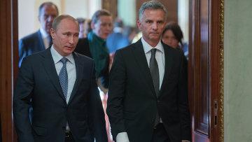 В.Путин провел встречу с действующим председателем ОБСЕ Дидье Буркхальтером