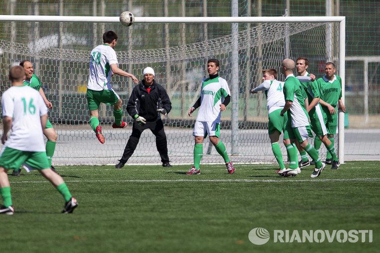Товарищеский матч между студентами и ректоратом Томского политехнического университета