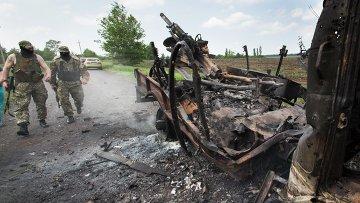 Последствия боевых действий возле Краматорска