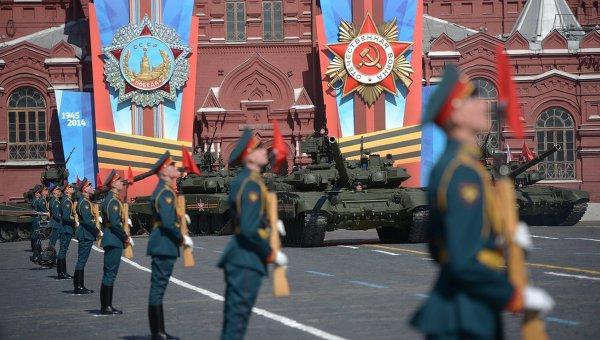Военный парад на Красной площади. Архивное фото
