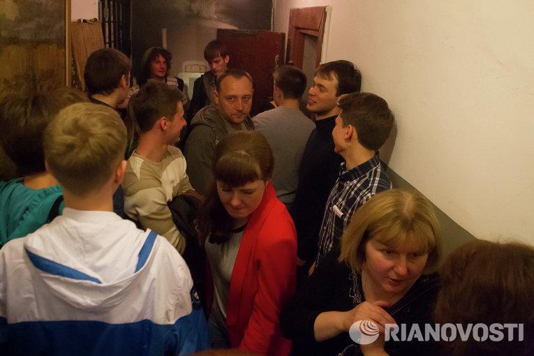 Ночь в музее-2014 в Томском музее Следственная тюрьма НКВД