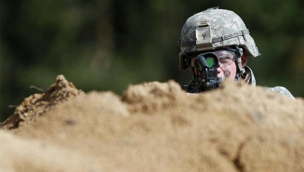 Солдат армии США, архивное фото