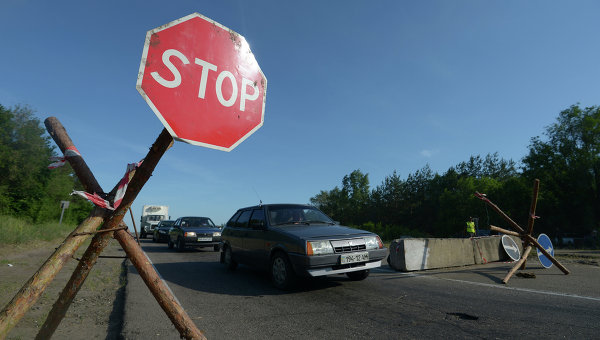 На блокпосту под Луганском. Архивное фото