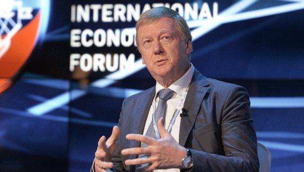 Председатель правления ОАО УК Роснано Анатолий Чубайс на ПМЭФ-2014