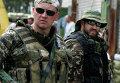 Члены украинской национальной гвардии в городе Старобельске Луганской области