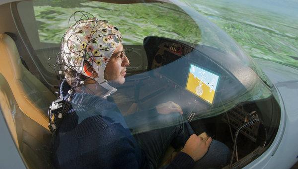 Устройство для управления самолетом силой мысли