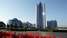 Здание главного офиса компании Газпром в Москве. Архивное фото