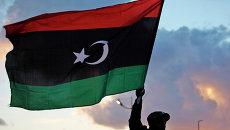 Флаг Ливии, архивное фото