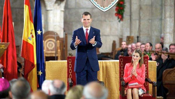 Испанский принц Фелипе и принцесса Летиция