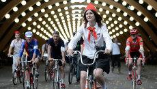 Исторический велопробег в парке Сокольники в Москве