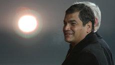 Президент Эквадора Рафаэль Корреа, архивное фото