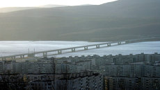 Автомобильный мост через Кольский залив, архивное фото