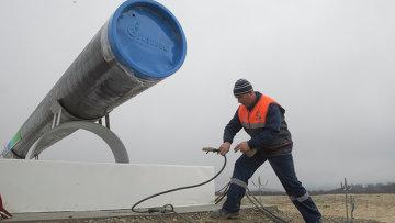 Начало строительства газопровода Южный поток. Архивное фото.