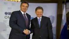 Глава Газпрома и гендиректор OMV о подписанном договоре по Южному потоку