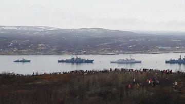 Корабли Северного флота РФ. Архивное фото