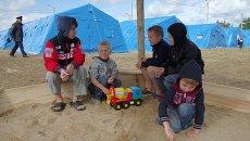 Лагерь для беженцев с юго-востока Украины в Севастополе