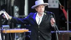 Американский певец Боб Дилан