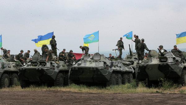 Группировка Украинских войск на позиции возле Славянска. Архивное фото