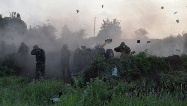 Работа артиллерии Украинской армии