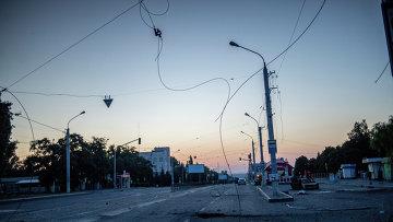 Последствия минометного обстрела Луганска