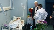 Собянин навестил в больнице пострадавших из-за ЧП в метро