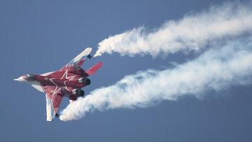 Истребитель МиГ-29 пилотажной группы Стрижи. Архивное фото.
