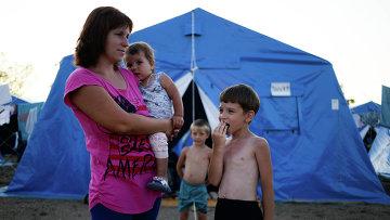 Лагерь беженцев с Украины в Севастополе. Архивное фото