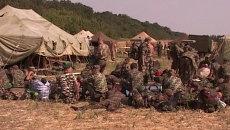 Перешедшие на территорию РФ украинские военные разместились в палатках