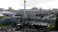 Палаточный лагерь на площади Независимости в Киеве. Архив