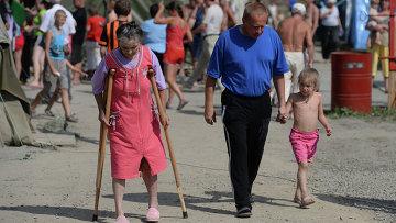 Лагерь украинских беженцев. Архивное фото