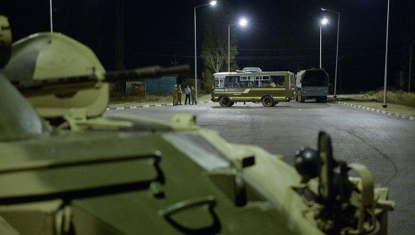Передача военных украинской стороне на пункте пропуска Весело-Вознесенка