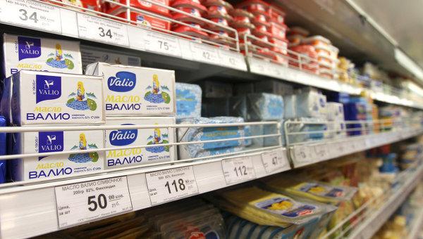 Продукция марки Valio в магазине, архивное фото