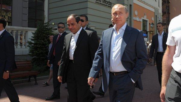 Владимир Путин и Абдель Фаттах ас-Cиси в Сочи