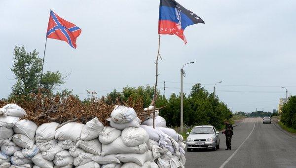 Блок-пост ополченцев ДНР. Архивное фото