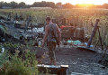 Позиция украинской армии возле Донецка