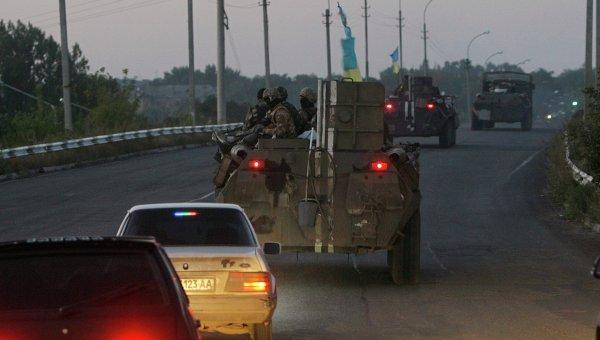 Украинские военные возле Краматорска. Архивное фото.