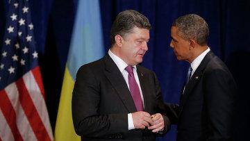 Президенты Украины и США Петр Порошенко и Барак Обама