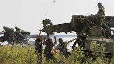 Состязания самоходных артиллерийских батарей Сухопутных войск. Архивное фото