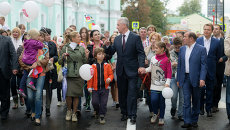 Открытие пешеходной зоны на Маросейке и Покровке. Мэр Москвы Сергей Собянин
