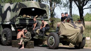 Украинские силовики возле Мариуполя. 27 августа 2014